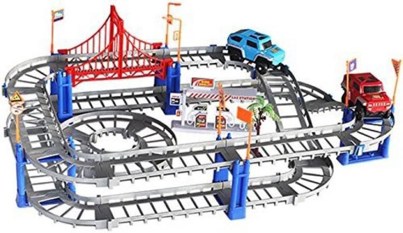 Jiistar Multi-Track Rail Car Building Block Railway Train Set