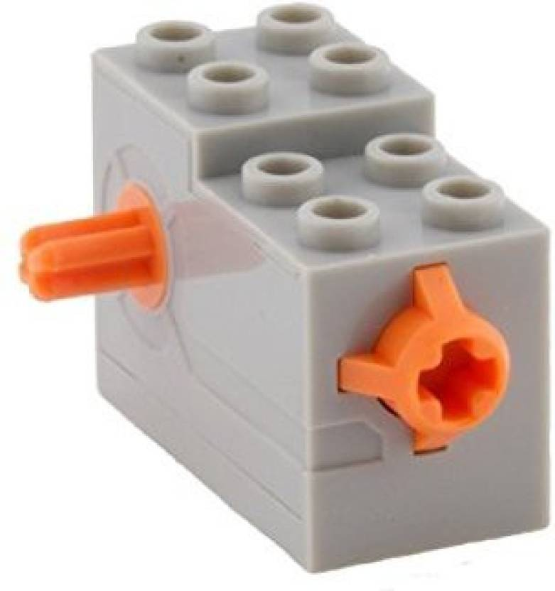Genrc Lego Parts Wind Up Motor 2 X 4 X 2 13 With Orange Release