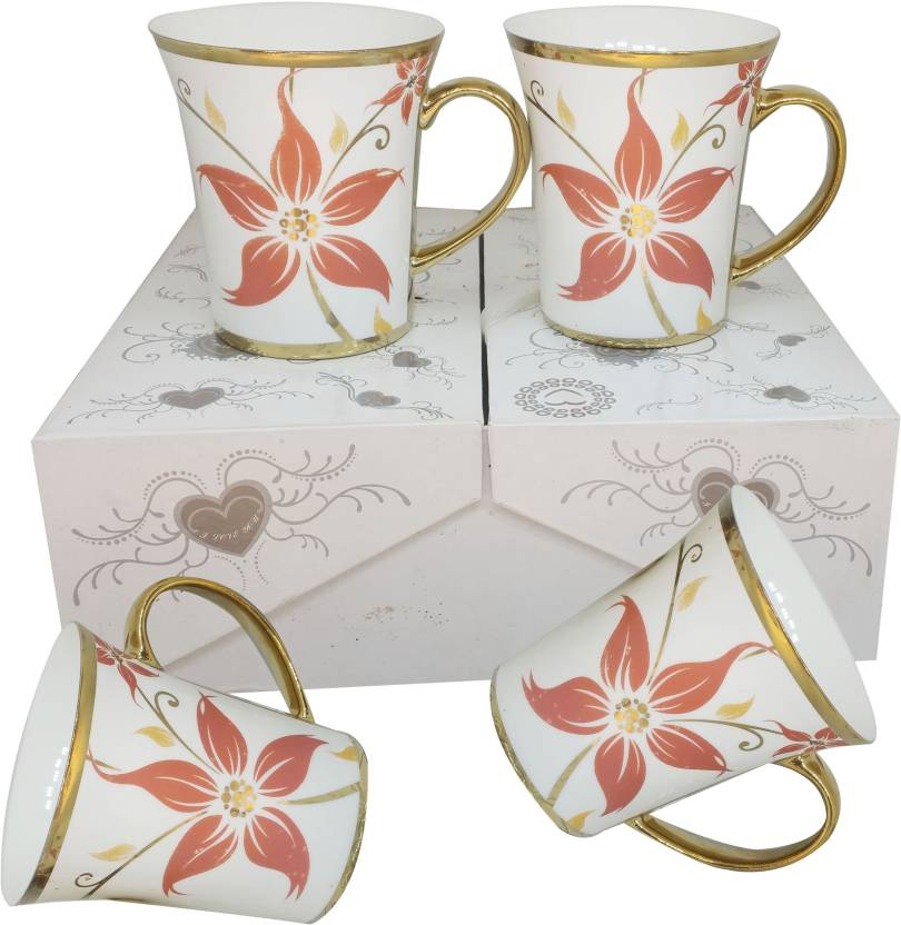 Casadomani Most Teaamp; Coffee 200mlFlower Attractive Printed Mugs lF1cKJ