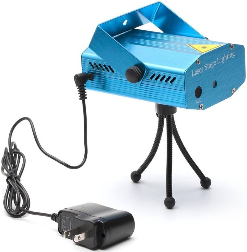 Techgear Laser Mini Disco Light Projector And Stage Lighting For Diwali Christmas Festivals Parties Shower