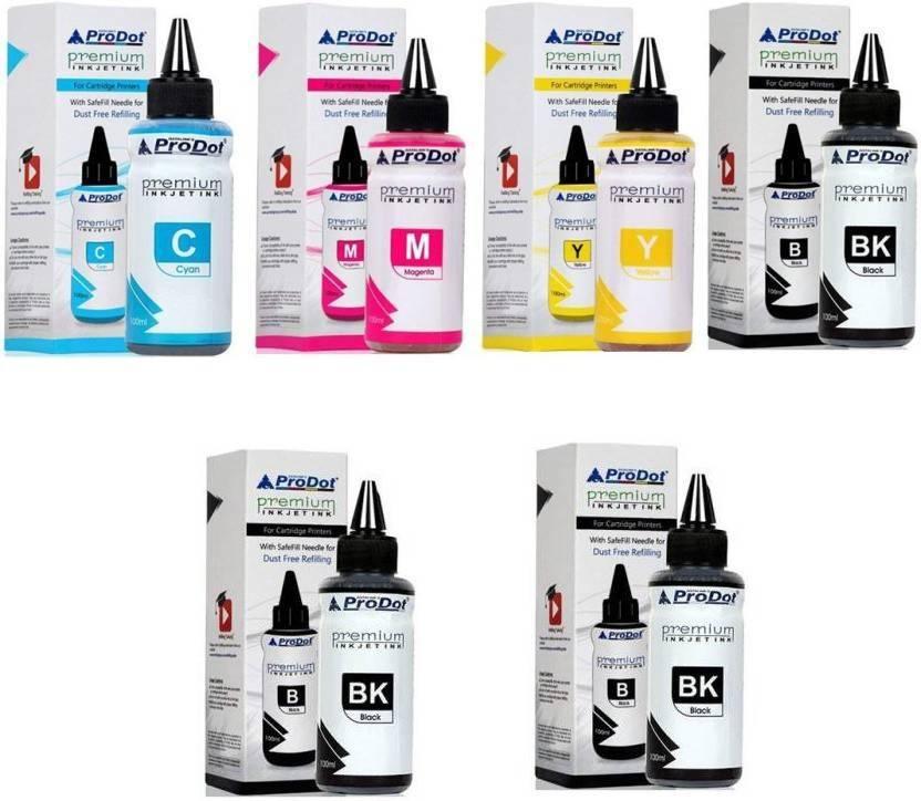 ProDot refill ink for all hp deskjet printers,canon multi