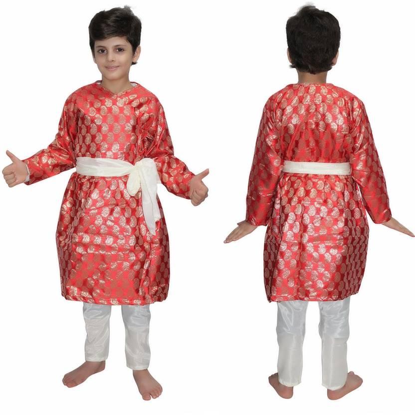 Kaku Fancy Dresses Gujrati Boy Red Color fancy dress for kids 9bb36c712