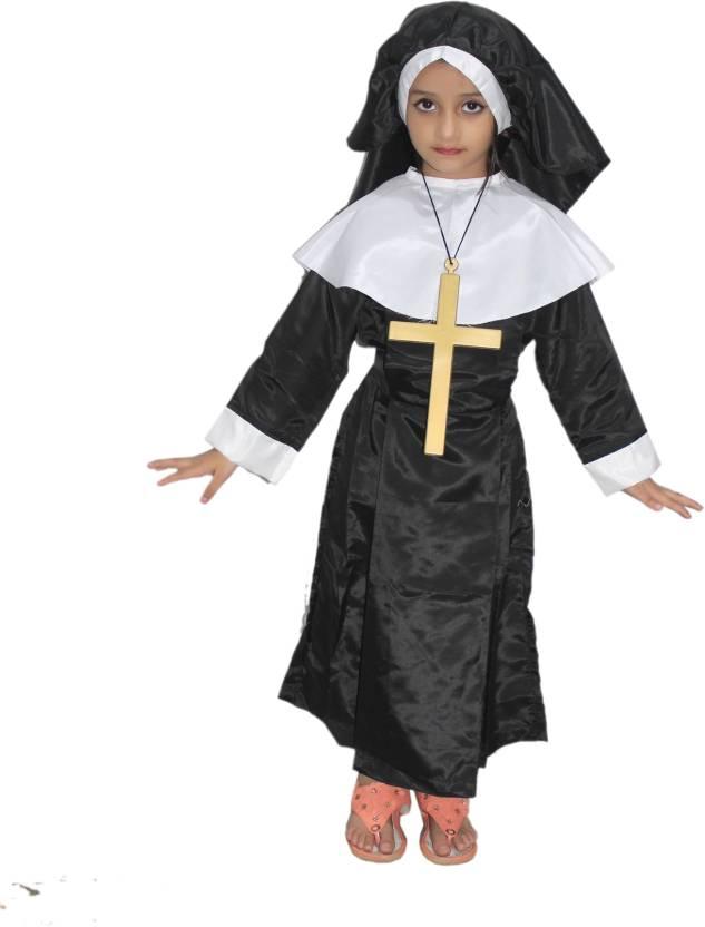 efd2a278a0f Kaku Fancy Dresses Nun Costume, Our Helper Costume For Annual ...
