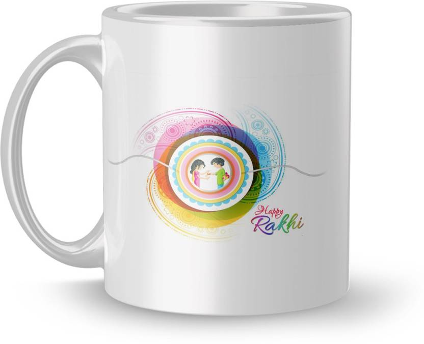 Dreamcart Rakhi Gift Mug Rakshabandhan For Brother Sister Birthday