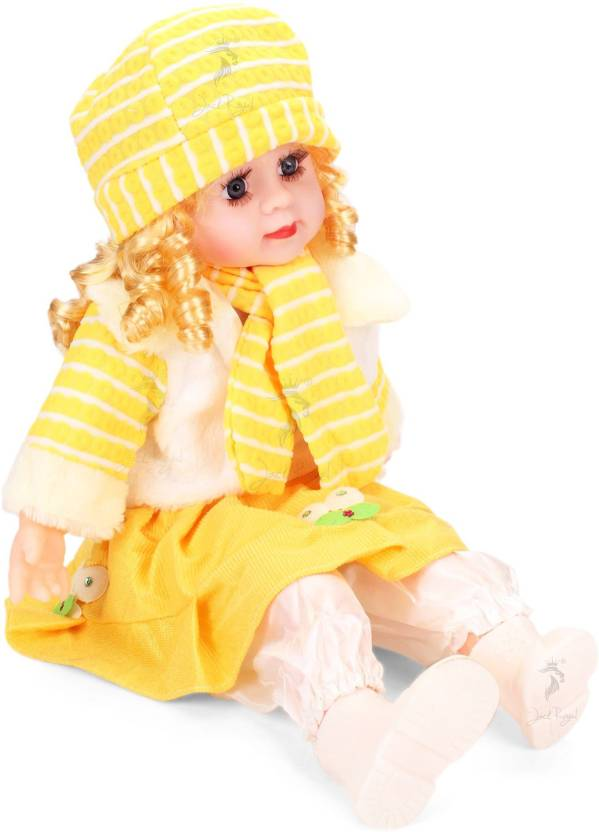 511bcc26547 Jack Royal Adorable Poem singing Girl Doll in yellow color (the color and  desing of