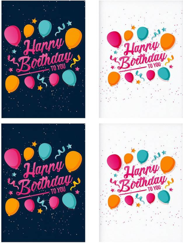 combo posters set of 4 rolled posters with pretty happy birthday to