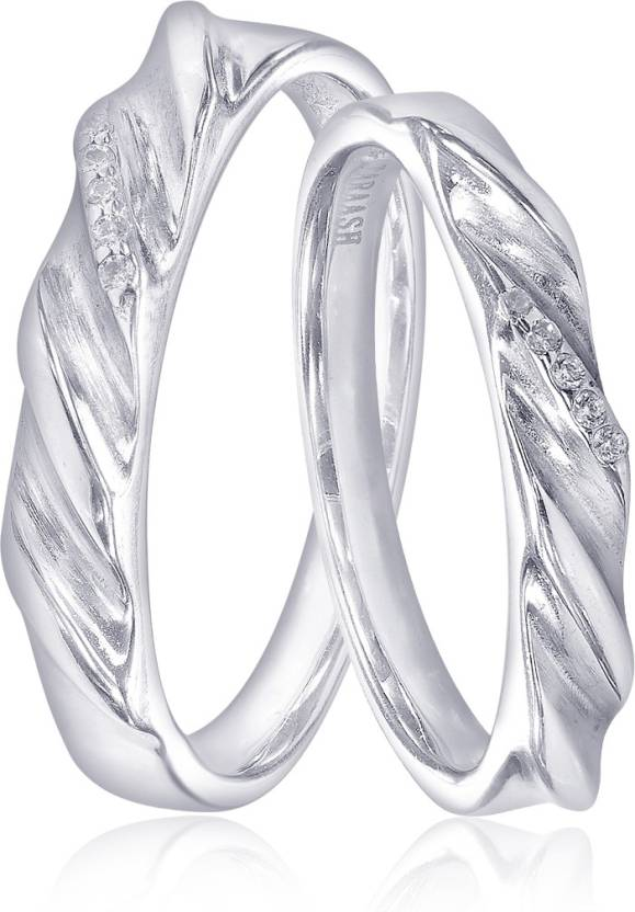 Taraash Taraash 925 Sterling Silver Twisted White Cz Couple