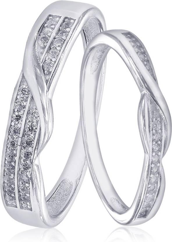 Taraash Taraash 925 Sterling Silver Dazzling White Cz Couple