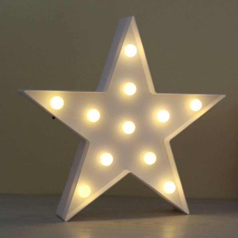 Satyam Kraft Star Light Marquee Light Led Light Plastic Sign Lighted