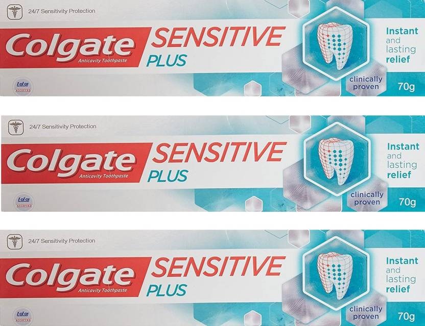 bd7f0b4dc Colgate Sensitive Plus 70g (Pack of 3) Toothpaste - Buy Baby Care ...