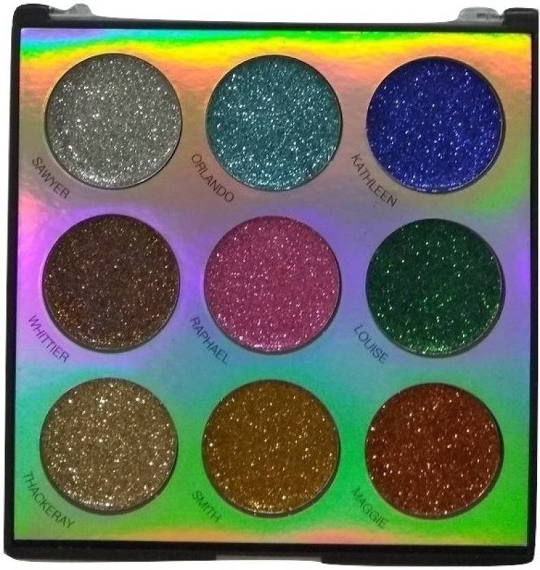 e33f064d06 Imported SFR 9 Color Professional Eyes Glitter Eyeshadow Palette 01 36 g  (Multi)