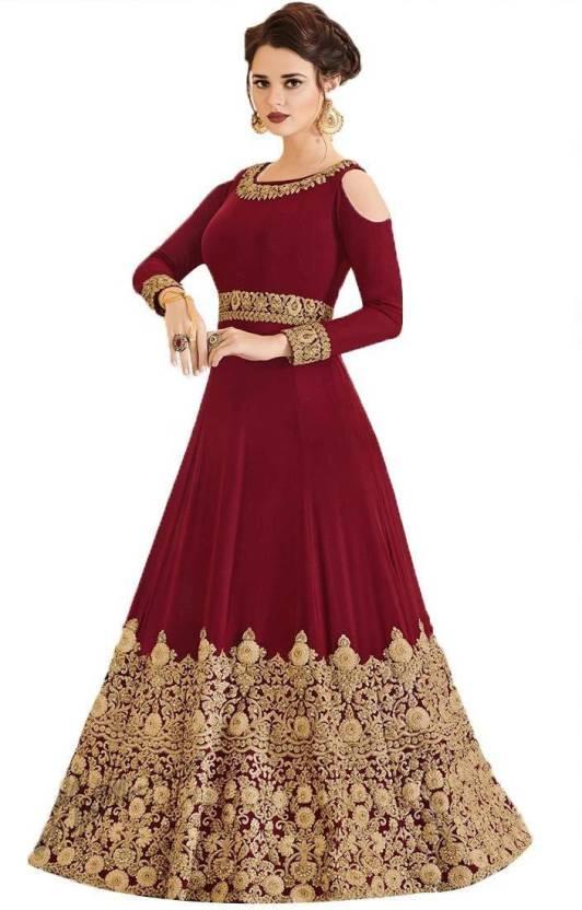 e51b426c625 MR CROZY Georgette Embroidered Semi-stitched Salwar Suit Dupatta ...