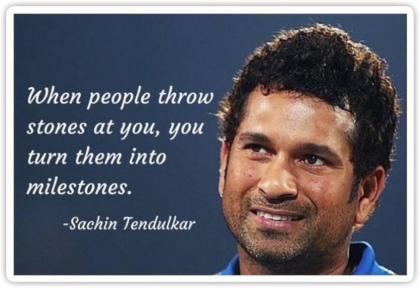 Pixadunes Sachin Tendulkar Quotes Poster For Wall And Home 12 X 18