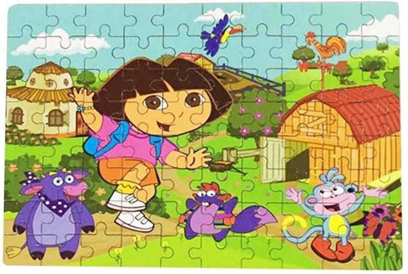 Happy GiftMart Fun Dora The Explorer 80 pieces Wooden Jigsaw