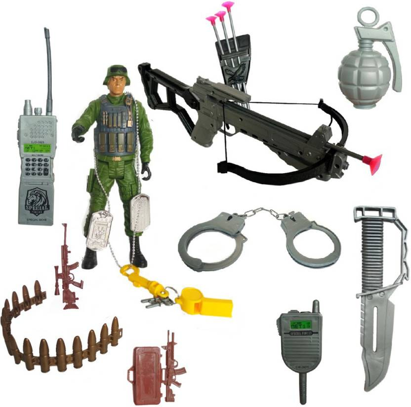 IndusBay Army SWAT Team Action Figure With Soldier Role Play