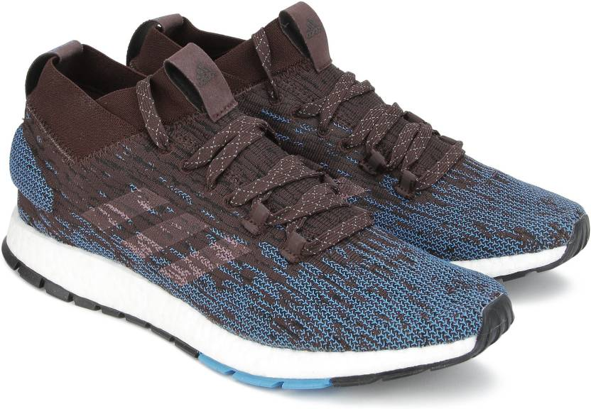 huge discount 6dfb1 07cc1 ADIDAS PUREBOOST RBL Running Shoe For Men (Brown, Blue)