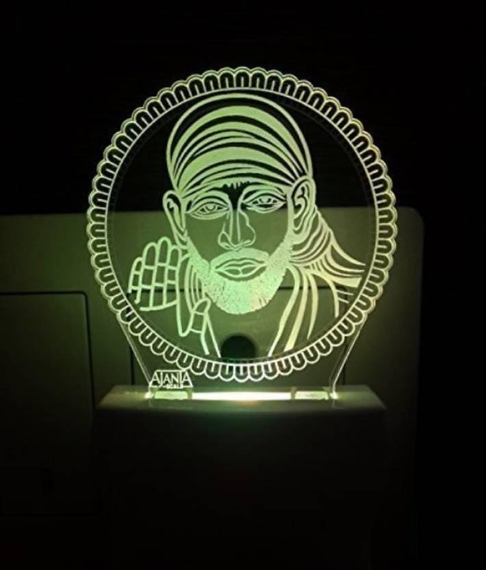 Ajanta Sai Baba (Code - 2019) 3d Night Lamp Price in India - Buy