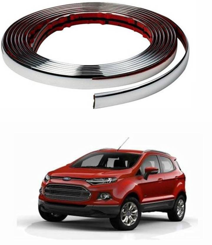 Carizo  Mm Stylish Chrome Beading Roll  Meter Ford Ecosport Car Beading Roll For Bumper Grill And Garnish Cover Window  Mm