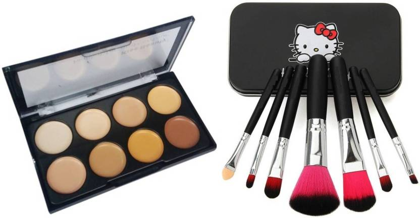 673d1b657 TheTopNotch Concealer Palette & 7 Piece Hello Kitty Brush Set (Set of 8)