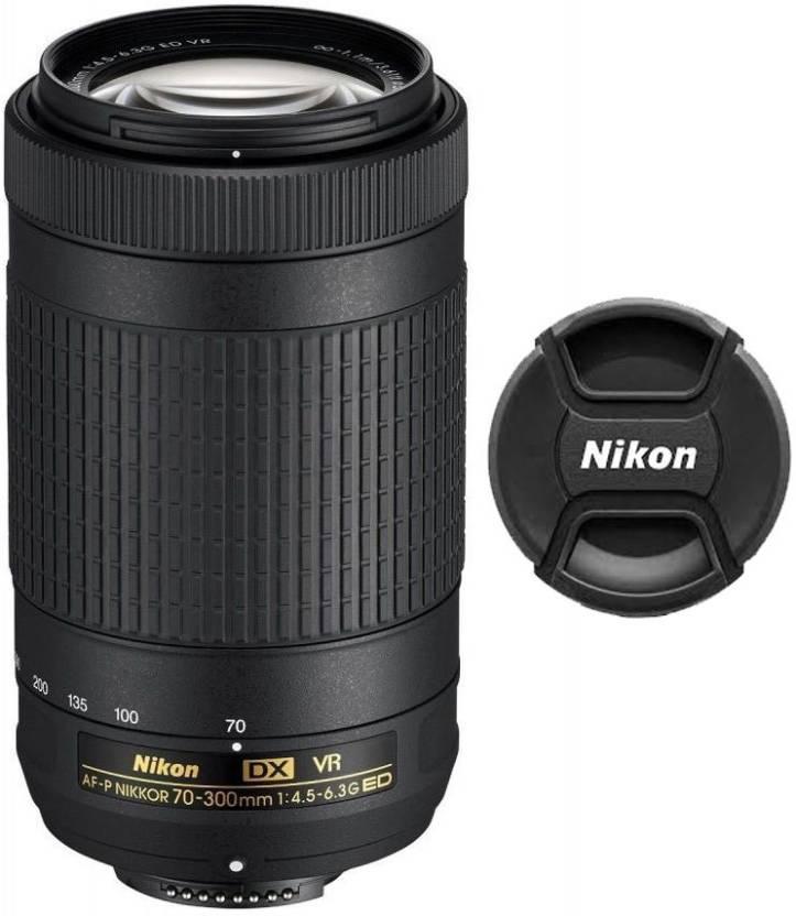 Nikon AF P DX NIKKOR 70   300 mm f/4.5   6.3G ED VR Lens  Lens Black, 55 250