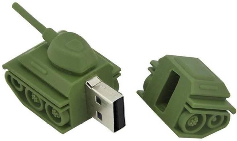 Tobo Creative Fashion USB 3.0 Flash Drive Pen Drive Cool Green Tank Shaped Memory Stick Pen Drive U Disk(32GB),(Green) 32 GB Pen Drive (Green)