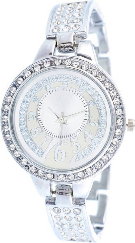 c58ae032e8036 Ruby Enterprise new-stylish-diamond-bracelet-silver strap - women ...
