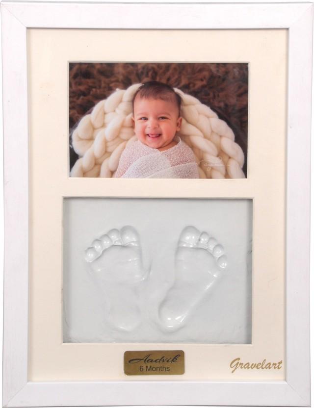 Baby Photo Frame DIY Handprint Imprint Baby Footprint Diecast Set Baby Gift