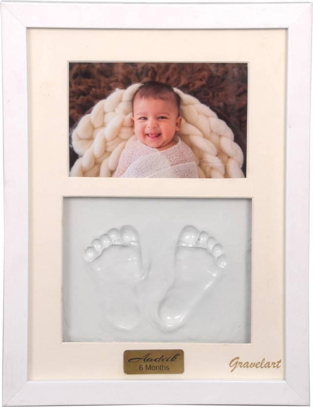Gravelart Baby Handprint Footprint Kit Photo Frame For Newborn