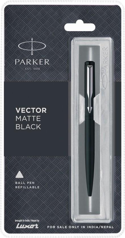GENUINE PARKER CLASSIC MATT MATTE BLACK BALL POINT PEN GT Free Black Refill