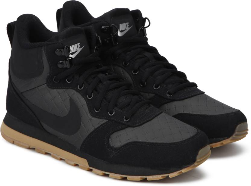low priced 11ad7 2c1fb Nike MD RUNNER 2 MID PREMIUM High Tops For Men (Black)