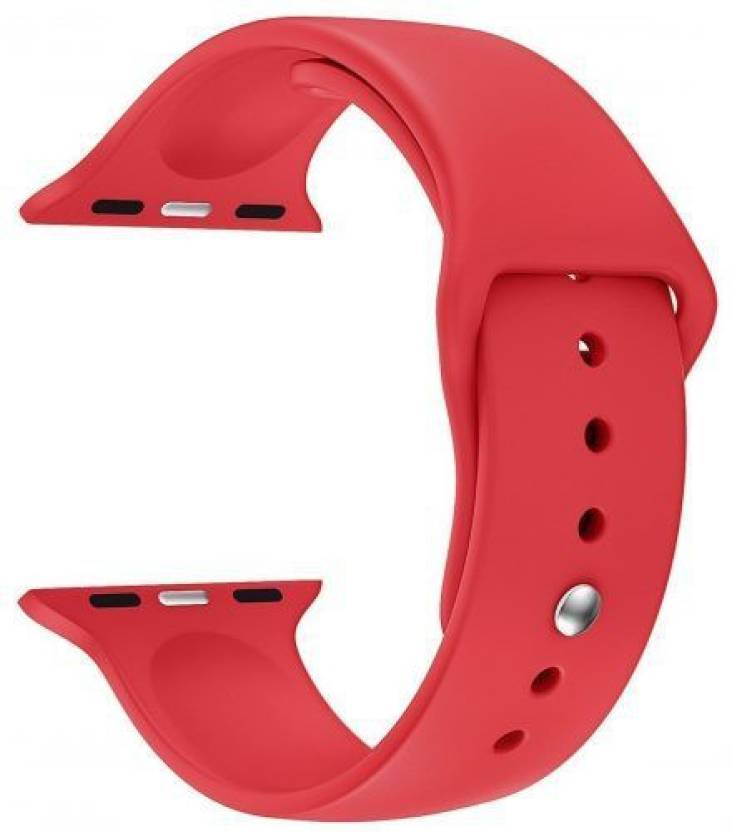 Midkart 44 mm Matte Red Belt Silicone Replacement Band
