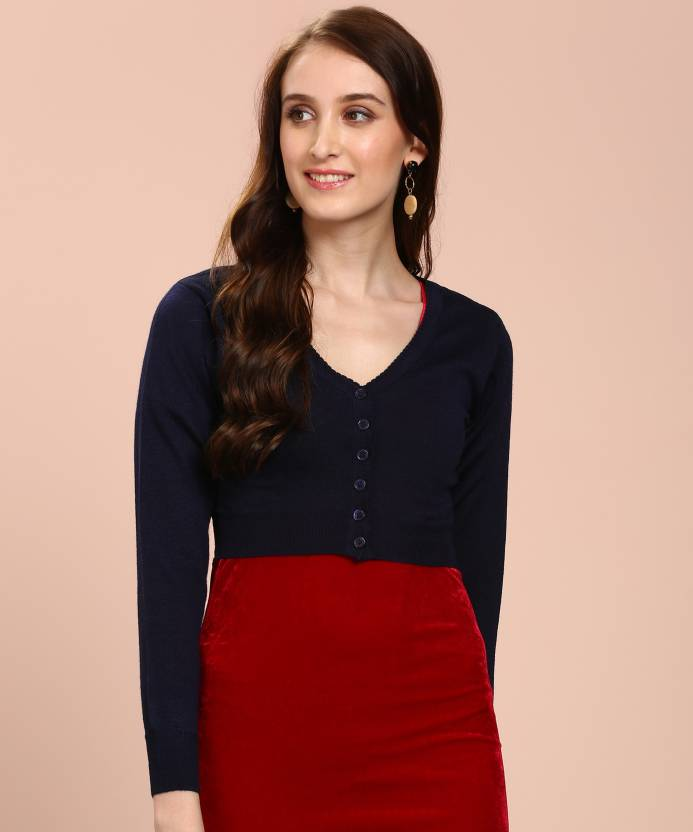 b0a7d9192 Monte Carlo Solid V-neck Formal Women Blue Sweater - Buy Monte Carlo Solid  V-neck Formal Women Blue Sweater Online at Best Prices in India | Flipkart .com