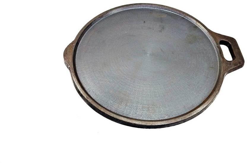 Ekitchen Pre Seasoned Cast Iron Tawa Diameter  Cms Thickness 5 Mm Weight 2 5 Kgs Tawa 28 Cm Diameter Cast Iron Induction Bottom