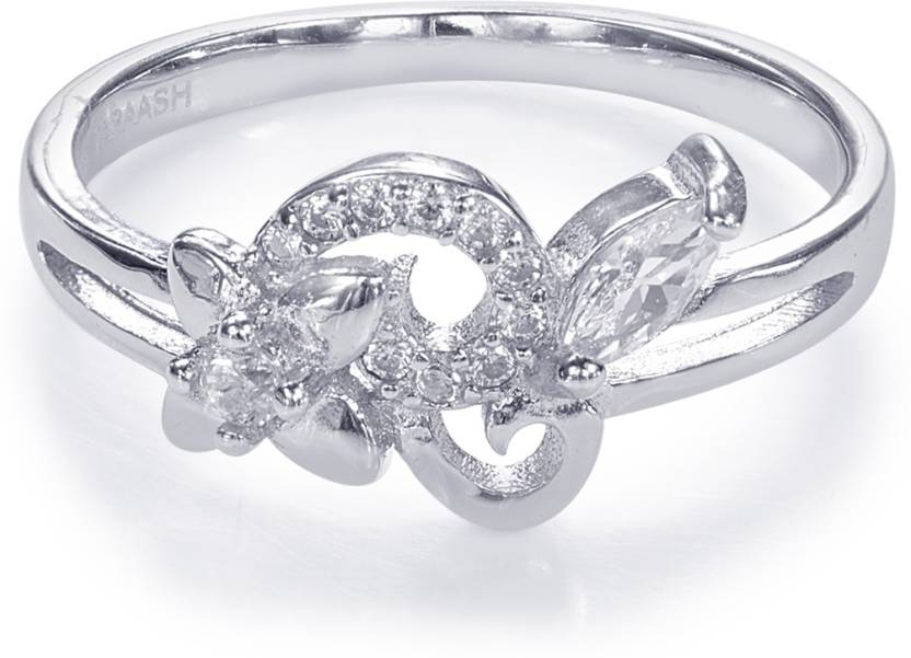 8002a30b0 Taraash Taraash 925 Sterling Silver Floral Style Finger Ring For Women  CBFRBX86I-06 Silver Cubic Zirconia Ring Price in India - Buy Taraash  Taraash 925 ...