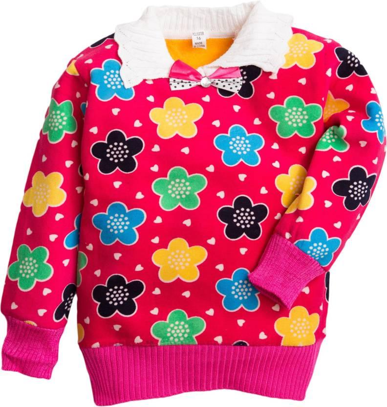 Kidofash Printed Round Neck Casual Baby Boys   Baby Girls Pink Sweater - Buy  Kidofash Printed Round Neck Casual Baby Boys   Baby Girls Pink Sweater  Online ... 7d3e6858d