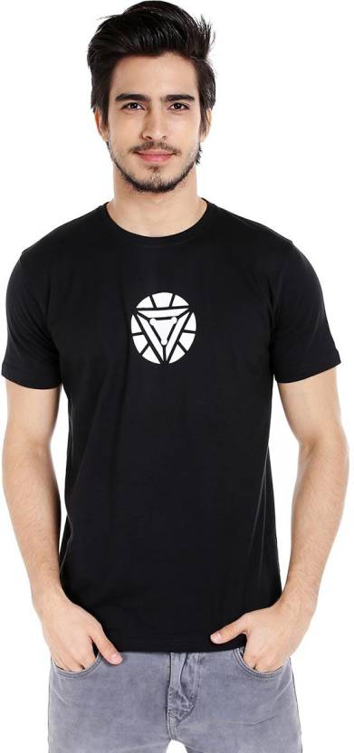 535647a7a Marvel Superhero Men's Round Neck Black T-Shirt - Buy Marvel Superhero Men's  Round Neck Black T-Shirt Online at Best Prices in India | Flipkart.com