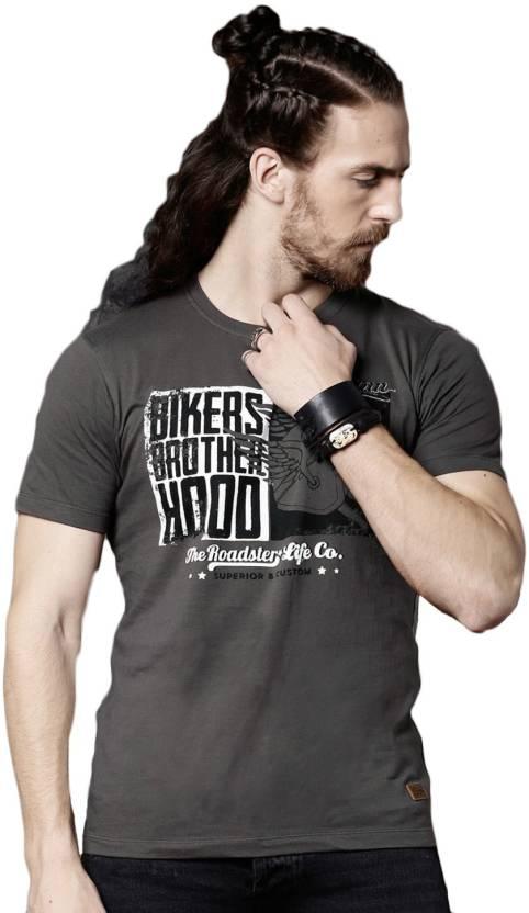 3fff2b7221a5 Roadster Graphic Print Men Round Neck Black T-Shirt - Buy Roadster Graphic  Print Men Round Neck Black T-Shirt Online at Best Prices in India |  Flipkart.com