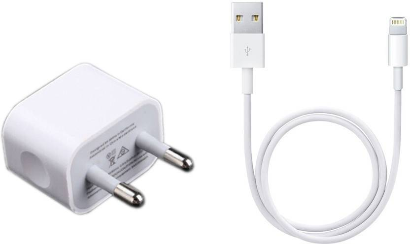 c6db731c9a4 EPAQT Power Adapter ML8M2HN A 5W Fast Charging Adapter with USB Cable  Compatible Mobile Charger (White