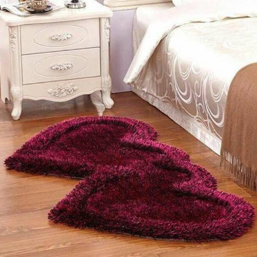 SRS HOME Maroon Blended Carpet (60 cm X 150 cm)