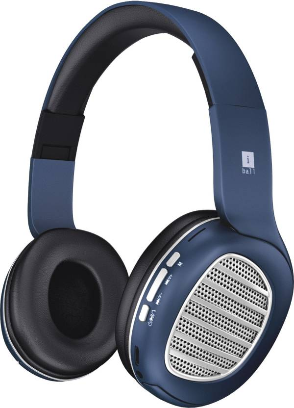 4d505546453 iBall Decibel BT01 Bluetooth Headset with Mic (Blue, Black and Silver, On  the Ear)