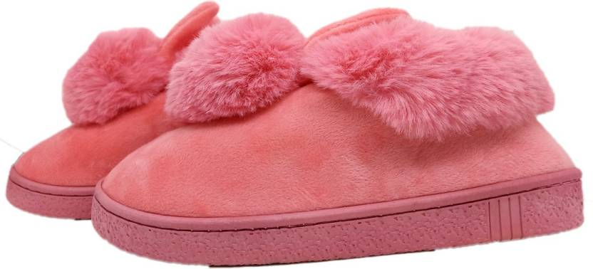 b76144d2f0b3a Miscreef Pink Booty Warm Winter, Furry, Bedroom Slippers - Buy ...