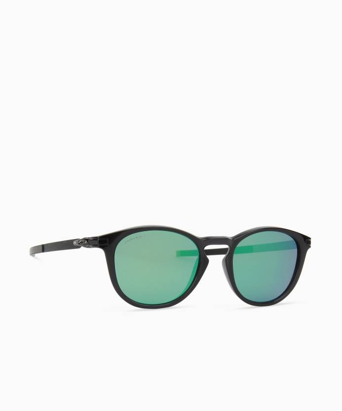 a875cdfec67 Buy Oakley PITCHMAN R Round Sunglass Green For Men Online   Best ...