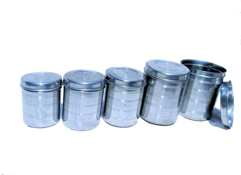 shri Gayatri Air tight stainless steel Kitchen Storage container -Dabba set of 5 - 3500