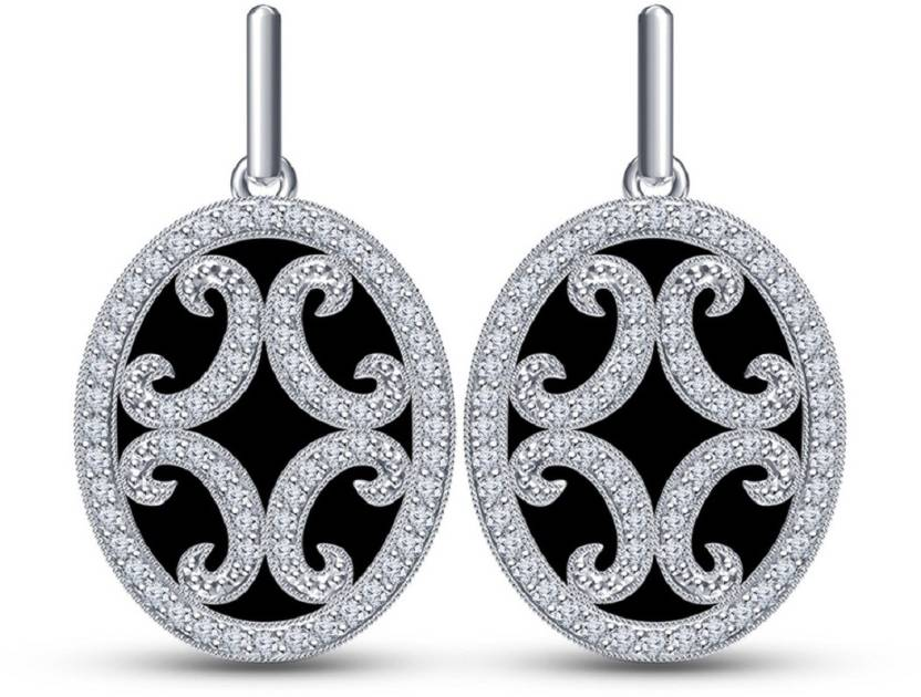 0231b7be1 ... White Platinum Plated Oval Shape Earring For Women's & Girl's RD Cut  Cubic Zirconia In 925 Sterling Silver Stud Earring Online at Best Prices in  India