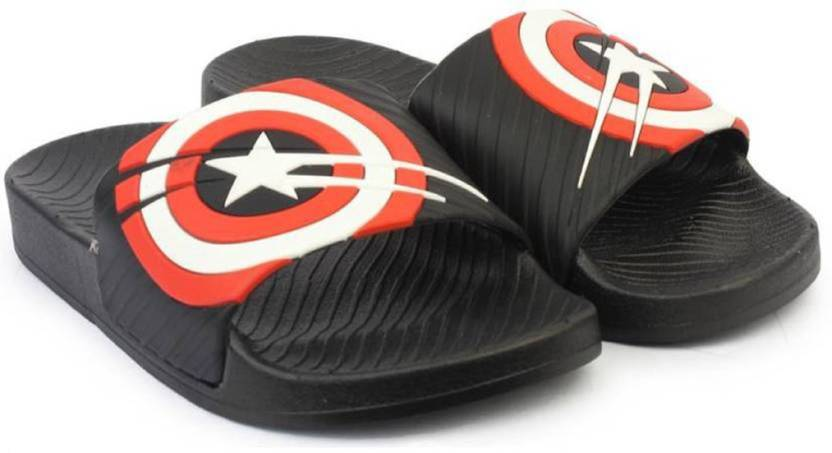 c69d0ea324f ADHIRAJ Captain America House Slippers For Men And Boys Slides - Buy ADHIRAJ  Captain America House Slippers For Men And Boys Slides Online at Best Price  ...
