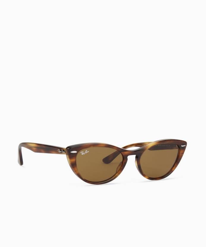 8a2ee5fb52 Buy Ray-Ban Cat-eye Sunglasses Brown For Women Online   Best Prices ...