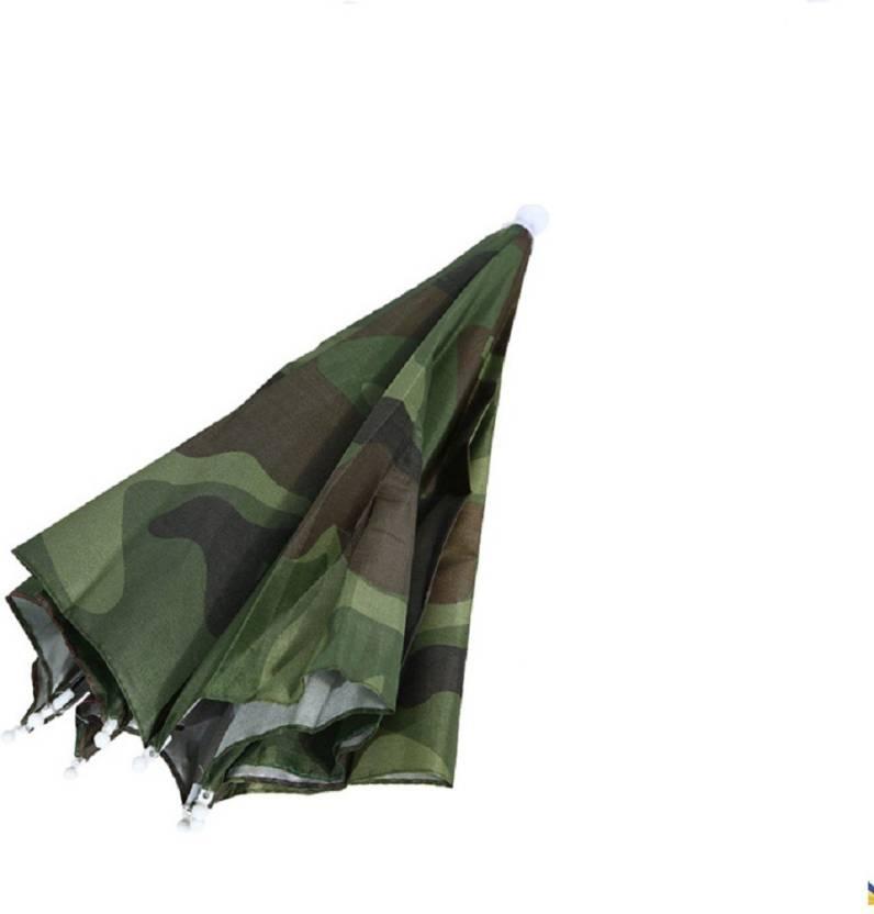 2a26903626bdc CBSP Rain Gear Fishing Hat Headwear Umbrella for Fishing Hiking Umbrella  (Green)