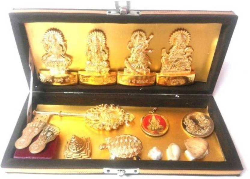 Manoramaenterprises Great Powerful Shri Dhanlaxmi Shri Kuber Bhandari Brass  Yantra Brass Yantra