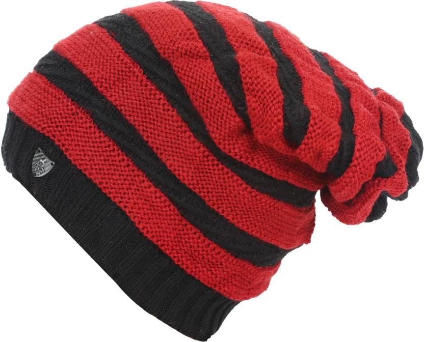 554d6e1d7 Friendskart Striped Fashion Winter Warm Beanie Caps Men Women Boy ...