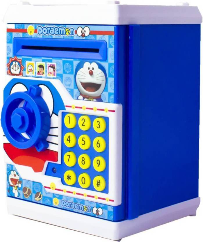 kidztoyzone Doramon Bank ATM with Special Electronic Code